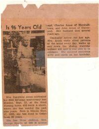 Josie Alexander Ames - newspaper clip