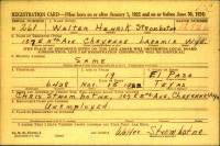 Military Service Registration Card - Henrik Strombotne