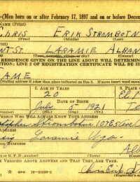 WWII Draft Registration - Chris Erik Strombotne
